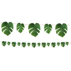 Green Lush Palm Leaf Party Banner/ Green Palm Leaf Banner/ Tropical Party Decor Perfect for lush tropical parties, luaus, or a trendy bridal party! Tropical Palm Leaves Streamer x polyester Jungle Theme Parties, Luau Theme Party, Hawaiian Luau Party, Jungle Party, 21st Party, Palm Tree Uses, Luau Party Supplies, Tropical Party Decorations, Felt Leaves