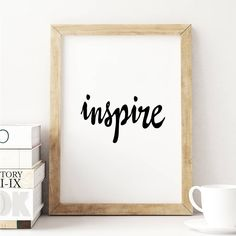 Inspire http://www.notonthehighstreet.com/themotivatedtype/product/inspire-black-and-white-typography-print Limited edition, order now!