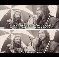 Oh, you dwarves... what would you do without Aidan Turner...?
