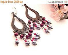 Beaded Dangle Earrings for Pierced Ears by SpringJewelryThings
