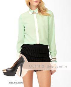 A la #pureza y delicadeza del verde, el #dorado suma #estilo y #glamour. Añade #accesorios en este #color y los #Pump Negro #Napa: http://www.brantano.com.mx/producto/609-pump-negro-napa.aspx