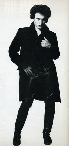 Adam Ant; leather pants, belt, detail, ruffles, rock