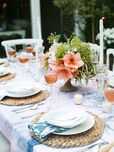 Outdoor Table Setting .