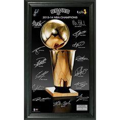 San Antonio Spurs 2014 NBA Finals Champions inTrophyin Signature Photo