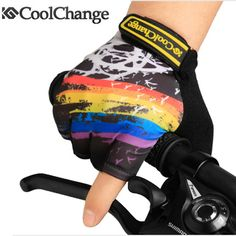2016 Coolchange Summer Half Finger Cycling gloves Rainbow Graffiti Nylon Gel Breathable Sports Gloves MTB Bike Bicycle Gloves #hats, #watches, #belts, #fashion, #style