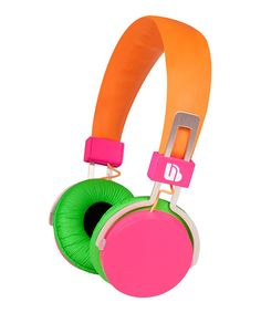 Take a look at this Orange & Pink Urban Beatz Neon Headphones on zulily today!