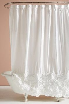 More Information Caprice White Shower Curtain