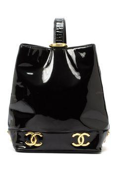Vintage Chanel Patent Leather One Shoulder Bag
