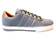 Adidas Neo, Mens Trainers, Adidas Superstar, Adidas Sneakers, Canvas, Grey, Men's Tennis Shoes, Tela, Gray