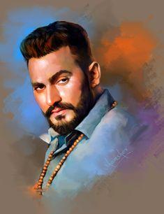 #BinderDanoda #haryanvisinger #actor #photoshoppainting Digital Paintings, Ariel, Dan, Bollywood, Actors, Portrait, Fictional Characters, Headshot Photography, Portrait Paintings