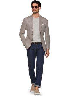 Jacket Brown Plain Havana C1223i | Suitsupply Online Store
