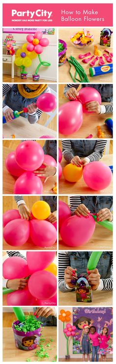 How to make balloon flowers - get crafty with our super-fun pictorial tutorial. So easy ... and SO pretty!