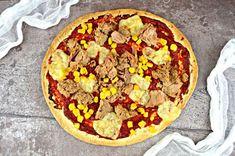 Ekspresowa pizza z tuńczykiem i kukurydzą | – Dietetyczne przepisy – Recipe Images, Hawaiian Pizza, Vegetable Pizza, Vegetables, Recipes, Food, Meal, Eten, Vegetable Recipes