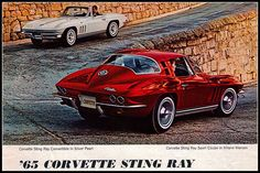 1965 Chevrolet Corvette Sting Ray...Corvettes remind me of my dad, we were just talking cars over dinner the other night. :)