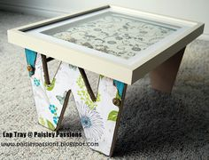 Lap tray made using a letter and a frame! (try with H)