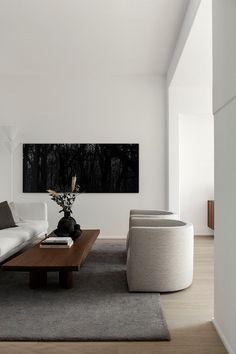 Design Living Room, Living Room Interior, Living Room Decor, Nordic Living Room, Dining Room, Interior Livingroom, Dining Chairs, Dining Table, Interior Design Minimalist