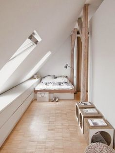 Prodigious Attic bedroom log cabin,Attic renovation value and Attic storage for clothes. House Design, House, Small Spaces, Home, Colorful Interior Design, Attic Flooring, House Interior, Interior Design, Attic Apartment