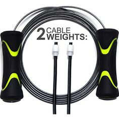 Rapid Reflex Premium Speed Rope Jump Rope with Extra Weight Steel Pieces Ausdauertraining Fitness & Jogging