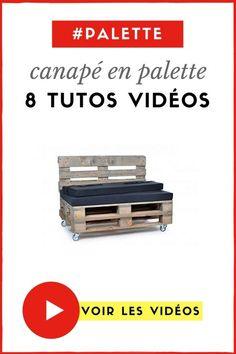 8 Tutos Vidéos pour Fabriquer un Canapé en Palette (  BONUS DÉCO)