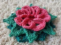 Crocheted flower No 10