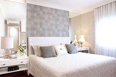 Decoração de quarto com cinza e marrom