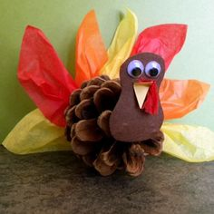 Pinecone and tissue paper Turkey