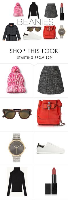 """""""Beanies"""" by juanarijo ❤ liked on Polyvore featuring Ermanno Scervino, Cutler and Gross, Carven, Nixon, Alexander McQueen and NARS Cosmetics"""