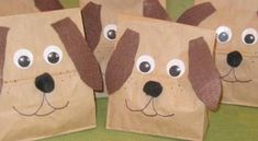 Make a fun dog party bag to be filled with puppy favors.