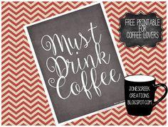 Free Coffee Lovers Printable at JonesCreekCreations.blogspot.com