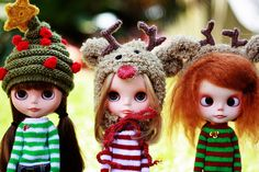 Gorgeous Christmassy dolls and dolly outfits by Renata S.P. - ♥ Sweet Tricot ♥'s