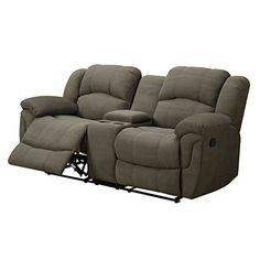 Emerald Home Motion Loveseat with Padded Micro Fiber *** Want additional info? Click on the image.