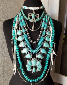 Western Jewelry, Western Turquoise Jewelry, Country Jewelry, Navajo Jewelry, Pearl Jewelry, Gemstone Jewelry, Pearl Necklace, Turquoise Necklace Outfit, Western Wear