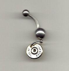 If i ever get my belly button pierced! Jewelry Navel belly ring Shot gun shell Spent by AnnieGetUGun, $16.95