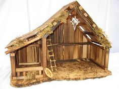 Woodtopia Nativity Stable Medium Willow Tree with light and Traditional Figures Christmas Crib Ideas, Childrens Christmas, Christmas Porch, Christmas Projects, Holiday Crafts, Christmas Decorations, Christmas Ornaments, Holiday Decor, Nativity Stable