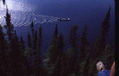 Canoe Aerial - Ripples and Light, Bird Lake, Manitoba, Canada