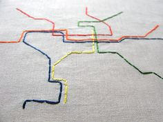 Embroidered Metro Map