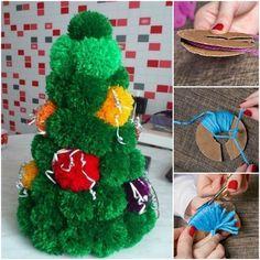 How to DIY Simple Pom Pom Christmas Tree | www.FabArtDIY.com LIKE Us on Facebook ==> https://www.facebook.com/FabArtDIY