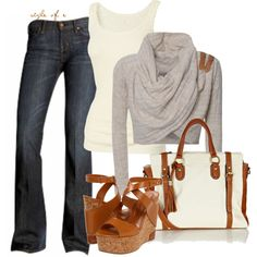Cropped Wrap Sweater, created by styleofe on Polyvore