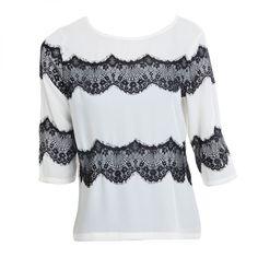 L.A Fashion - #Black  #encaje  #blusa #fashion