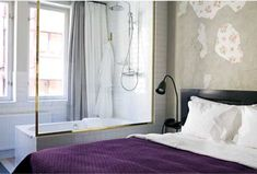 Story Hotel, Stockholm.  Love the purple bedspread.