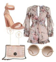 """""""crema"""" by dinuelena on Polyvore featuring Zimmermann, Gianvito Rossi and Alice + Olivia"""