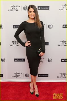 Nikki Reed's tight black dress shows off all her assets on the red carpet at the In Your Eyes premiere during the 2014 Tribeca Film Festival held at SVA Theater on Sunday evening (April 20) in New York City.