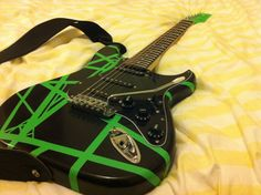 Customised Stratocaster in a 'Frankenstrat style' painted and finished by myself
