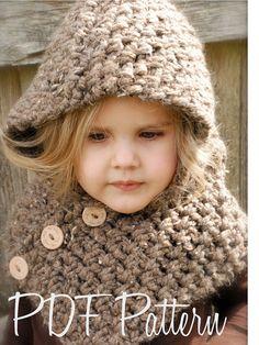 Crochet PATTERNThe Hampton Hood bébé enfant par Thevelvetacorn