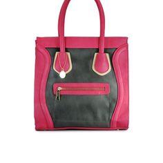 Big Buddha Jsskye Color Block Satchel Handbag Purse ~ Charcoal/Pink In Color BIG BUDDHA, http://www.amazon.com/dp/B00A2VEYCM/ref=cm_sw_r_pi_dp_o0zQqb18A4WVW