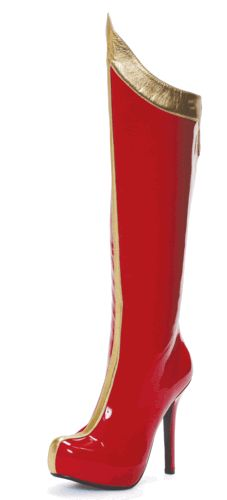 Ooooh! Wonder Woman Boots!! For those days that I need a little extra super power!!