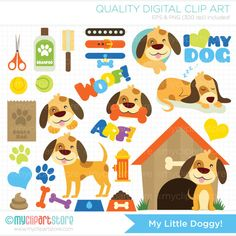 My Little Doggy / Puppy Dog Clip Art / Digital by MyClipArtStore