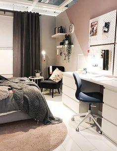 living room ideas – New Ideas Bedroom Inspo, Room Decor Bedroom, Student Bedroom, Kitchen Ikea, Cabinet D Architecture, Uni Room, Aesthetic Bedroom, Home Office Design, Dream Rooms