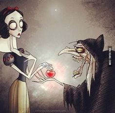 Snow White from Tim burton