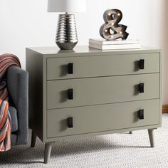 Shop Safavieh Blaize 3 Drawer Chest - Dark Grey / Black - On Sale - Free Shipping Today - Overstock - 22367089